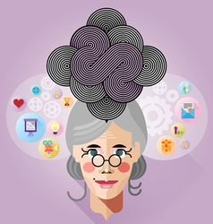 Thinking process vector image