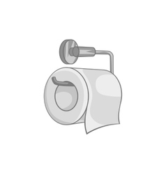 Toilet paper icon black monochrome style vector image