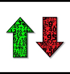 Up and Down Arrows Stock Green and Red vector