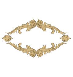 Vintage baroque ornament element vector