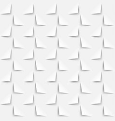 white background 3d paper style seamless pattern vector image
