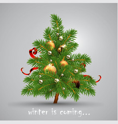 winter is coming christmas tree highly realistic vector image