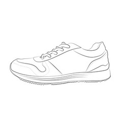 hand drawn sketch of sport shoes vector image vector image