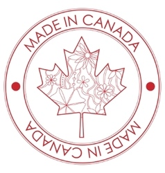 Made in Canada stamp vector image vector image