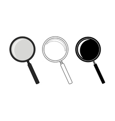 Magnifying glass tool set vector image