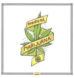 Medica marijuana logo eight vector