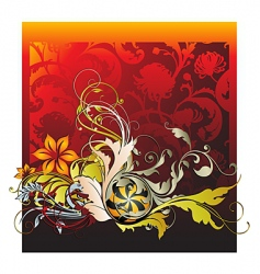 October flourishes vector image vector image