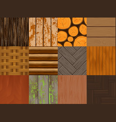 wood seamless pattern wooden background vector image