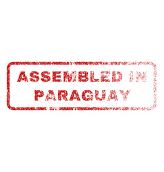 assembled in paraguay rubber stamp vector image