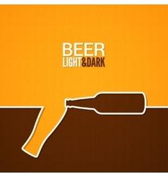 beer glass and bottle line design background vector image vector image