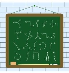 set of hand draw arrows vector image