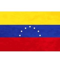 True proportions Venezuela flag with texture vector image vector image