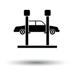 car lift icon vector image