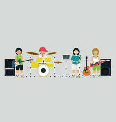 children band vector image vector image