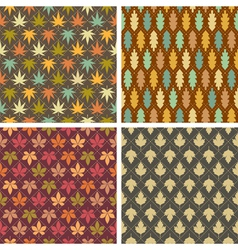 Colorful leaves patterns vector image vector image