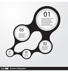 Infographic design with circles vector image vector image