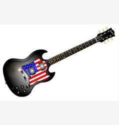 patriotic guitar vector image