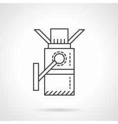 Turnstile flat line design icon vector