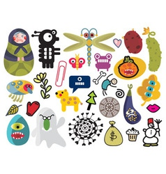 Various items vector image vector image