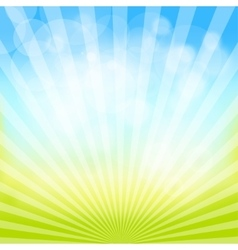 Abstract spring and summer background vector image vector image