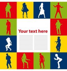 dancing people background vector image vector image