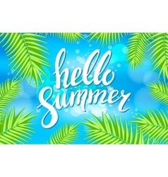 Hello Summer sea Party Flyer Design EPS 10 vector image vector image