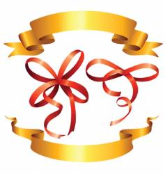 ribbon and bows vector image vector image