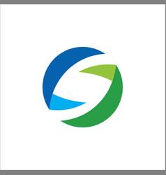 round circle shape logo vector image