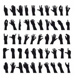 sign language vector image vector image