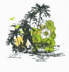 summer t-shirt vector image