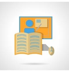 Web education flat color design icon vector image