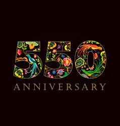 550 anniversary folk logo vector