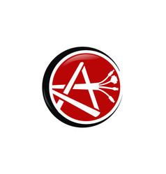 a plush cable logo design template vector image