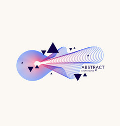 abstract background with dynamic linear waves vector image