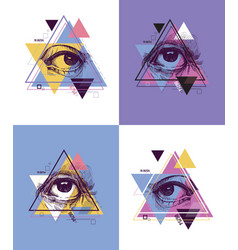 Abstract sacred geometrical symbol vector