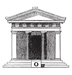 Antae or square pillars joined to the sidewalls vector