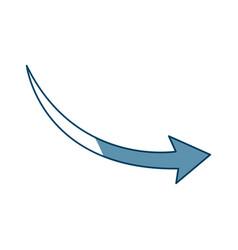 Arrow indicates the direction icon vector