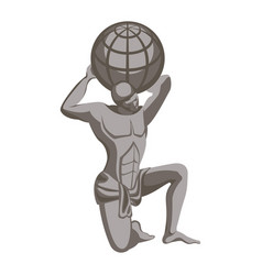 Atlas monument greek mythology character titan vector