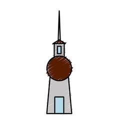 Berlin tv tower icon vector
