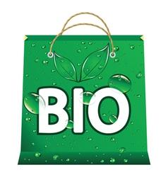 Bio shopping bag vector