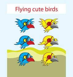Bird game asset vector