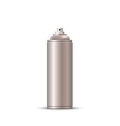 blank metal bottle spray aerosol vector image