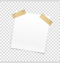 Blank paper frame isolated on transparent vector