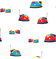 bumper car seamless pattern amusement park vector image