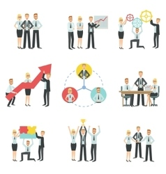 Business Team Working Together Achievement Process vector