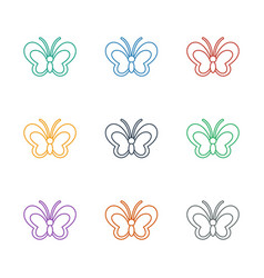 Butterfly icon white background vector
