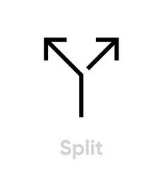 Call split icon editable line vector