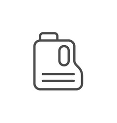 Canister line outline icon and oil container vector