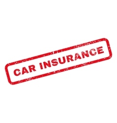 Car Insurance Text Rubber Stamp vector