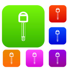 car key set collection vector image